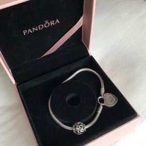 Pandora charm bracelet with charm